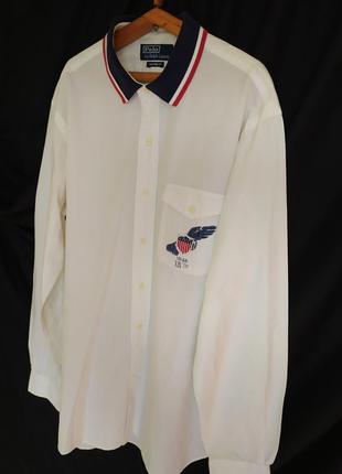 Polo ralph lauren рубашка размер l,xl 100% cotton