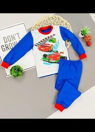 Тепла яркая пижама для мальчика