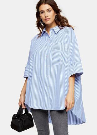 Очень свободная рубашка туника в полоску блузка блуза topshop