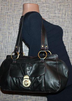 Кожаная сумка саквояж из натуральной кожи от tommy&kate