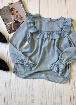 Рубашка блуза с воланами only