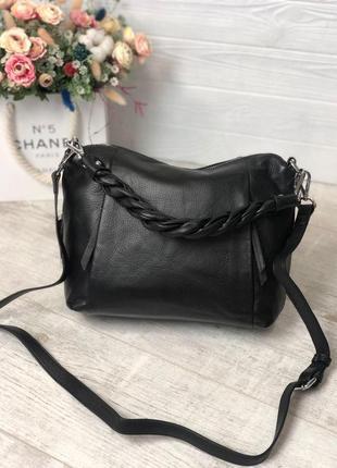 Модная кожаная сумка polina & eiterou