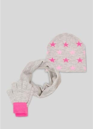 Комплект шапка, снуд и перчатки
