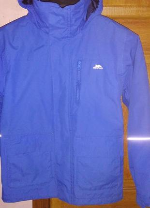 Шикарная деми куртка trespass 3 в 1 на 9-10лет р.140