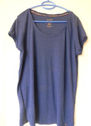 Женская футболка promod р.xl лиоцелл/лен