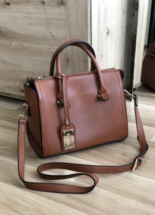 Шикарная, красивого цвета кожаная сумка от buffalo🔥