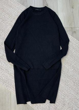 Чёрная кофта свитер cos