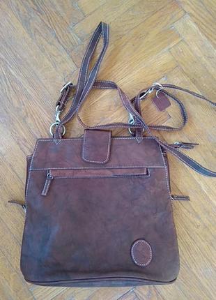 Сумка-рюкзак шкіра новий