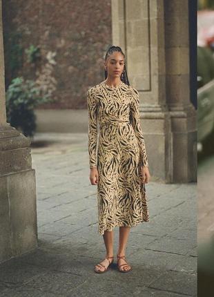 Эксклюзивное платье миди с драпировкой h&m