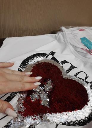❤скидочка красивейшие турецкие футболки паетки перевёртыши качество люкс