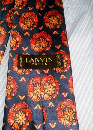 Поделиться:  галстук paris lanvin. шелк. оригинал.100% шелк