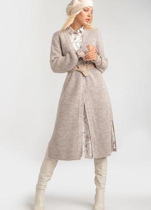 Удлиненный кардиган-пальто 42-52 р
