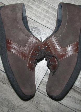 Замшевые туфли полуботинки rathgeber р. 6 н- 25см