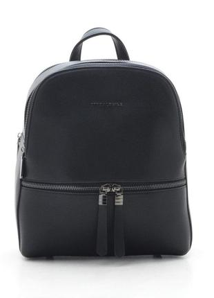 Базовый классический черный сумка рюкзак трансформер черный городской рюкзачок ash2088