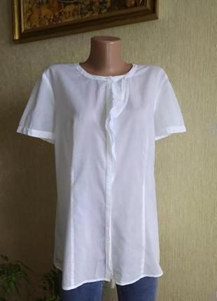 Идеальная фирменная белоснежная блуза,р.42