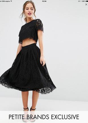 Платье 2в1 из кружев