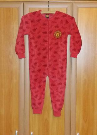 Флисовая слип-пижама manchester united 4-5 лет