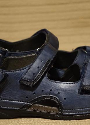 Легкие открытые синие кожаные босоножки ströber германия 38 р.