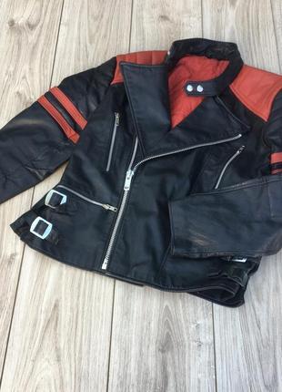 Стильная актуальная натуральная кожа ная куртка косуха тренд h&m zara harley davidson