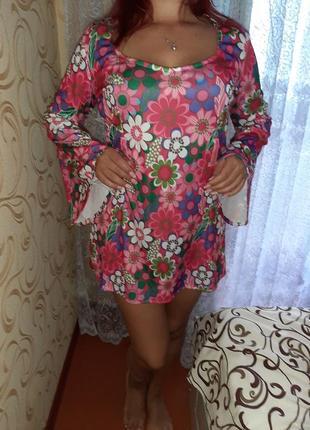 Карнавальное платье хиппи, диско