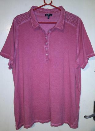 """Натуральная,хлопок,""""варёнка"""" (фото3),блузка-футболка с вышивкой,большого размера"""