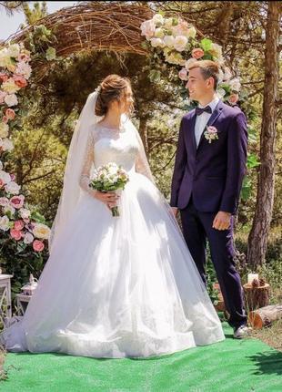 Свадебное платье,которое скрыло 6мес беременности
