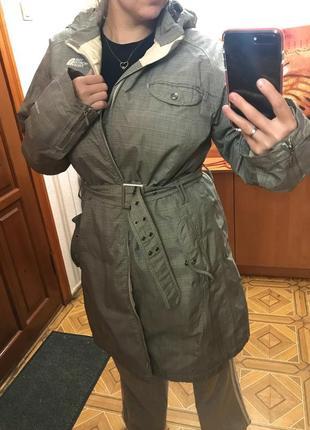 Демисезонная куртка пальто плащ под пояс