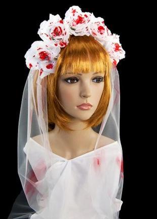 Украшение на голову хэллоуин кровавая невеста