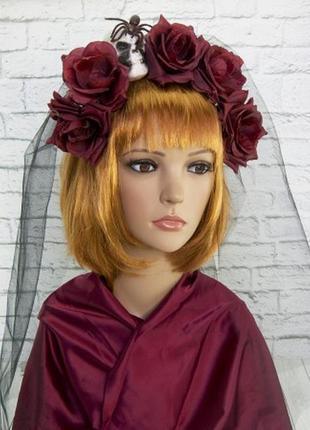 Украшение на голову хэллоуин ленор с фатой