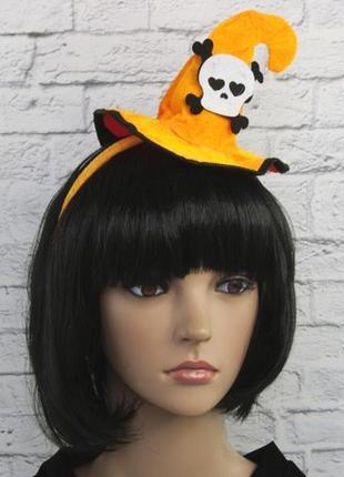 Маленькая шляпка на ободке хэллоуин с черепом