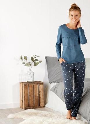 Теплая женская пижама домашний костюм флис esmara германия, реглан штаны
