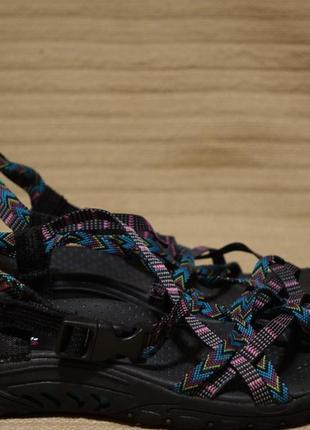 Открытые тканные сандалии в морском стиле skechers reggae - islander river 41 р. ( 27 см.)