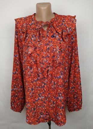 Блуза легкая новая цветочная с рюшами оригинал abercrombie&fitch l