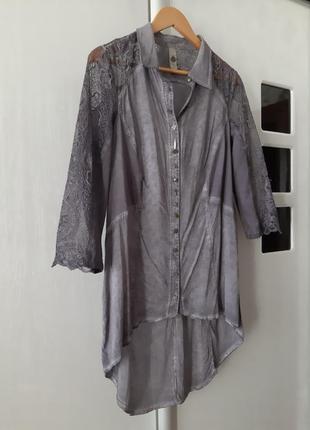 Удлиненная рубашка/блуза tredy
