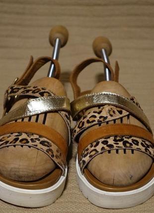 Комбинированные открытые кожаные босоножки inuovo турция 38 р.