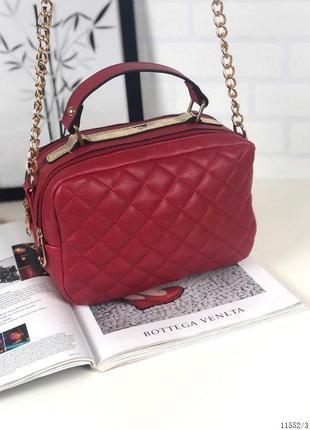 Красный женский клатч сумочка