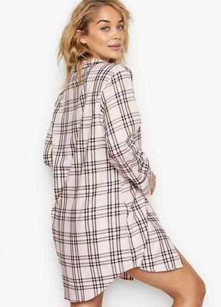 Victoria's secret фланелевая рубашка ночнушка💝