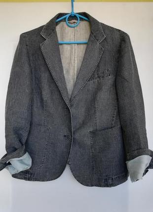 Летний пиджак лен с хлопком италия