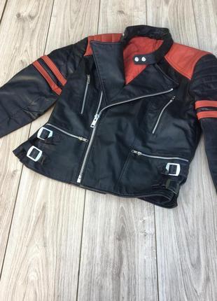 Стильная актуальная натуральная кожа ная куртка тренд h&m zara harley davidson