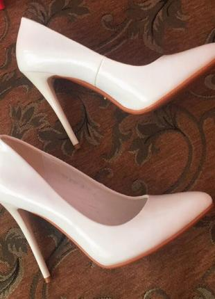 Туфли лодочки / свадебные туфли/ лодочки белые