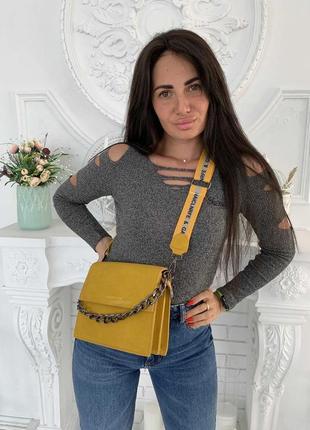 1824.     желтая сумка клатч