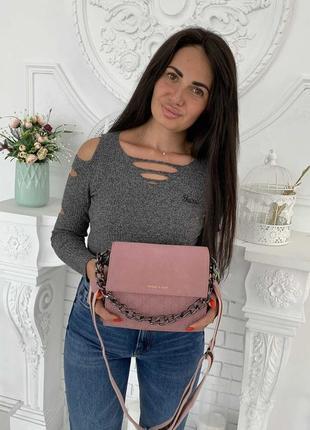 1824.    розовая сумка клатч