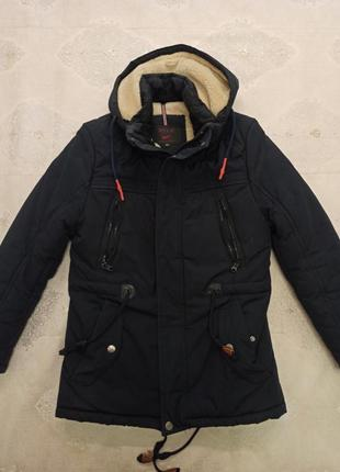 Мужская зимняя куртка , пуховик, парка на 16-20 лет.