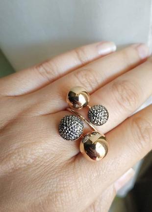 Кольцо безразмерое колечко золото