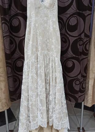 Шикарное дизайнерское свадебное платье от alvina valenta