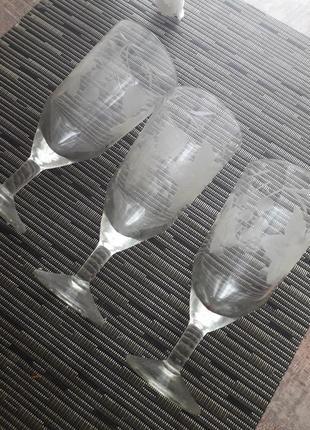 Набор бокалов с рисунком ссср