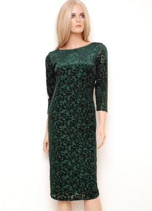 Много красивых платьев по хорошим ценам! бархатное изумрудное платье миди р.10-12