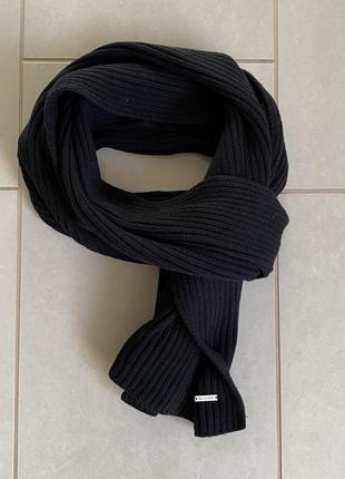 Плотный зимний мужской шарф calvin klein