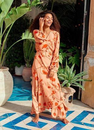 Сукня в маки лімітована колекція від h&m