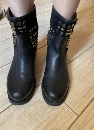 Ботинки осень кожа